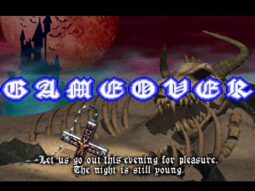 Castlevania Symphony of the Night Game Over