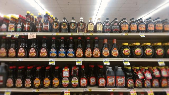 syrup aisle