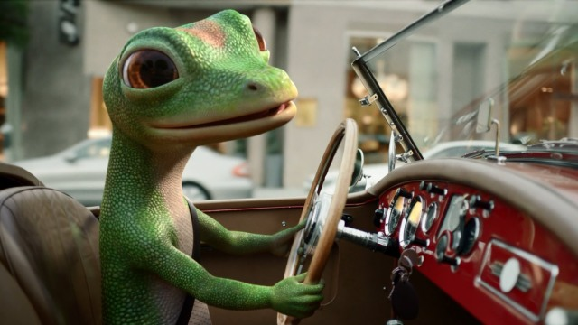 gecko in car