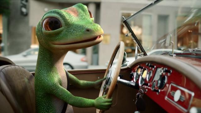 gecko in car