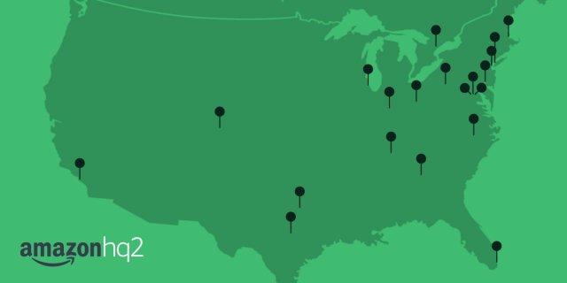 HQ2 map