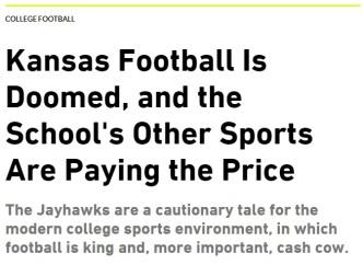 KU football is doomed