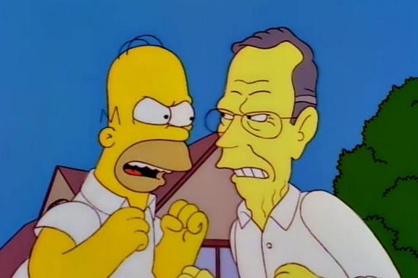Bush and Homer