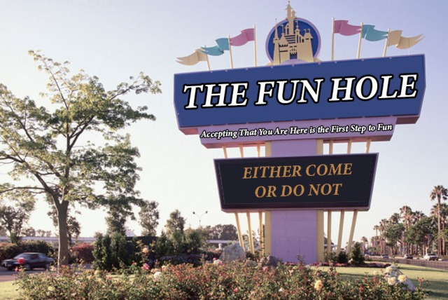 fun hole sign