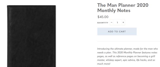 man planner price