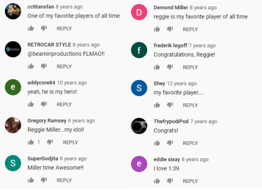 reggie comments